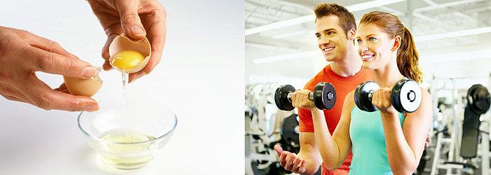 Ganhe massa muscular com a clara do ovo