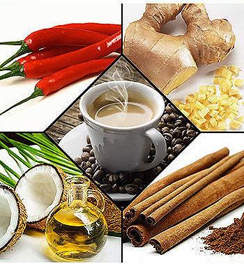Alimentos termogênicos têm alto teor de fibras e baixo teor de calorias são, por conseguinte, alimentos importantes na perda de peso.