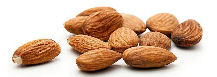 Amêndoas contêm gorduras monoinsaturadas e algumas gorduras poliinsaturadas
