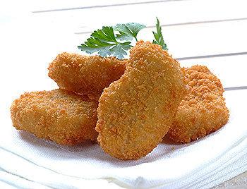 Os empanados de frango são um dos ícones da atual indústria de alimentos, baseada na mecanização, uniformização e produtividade.